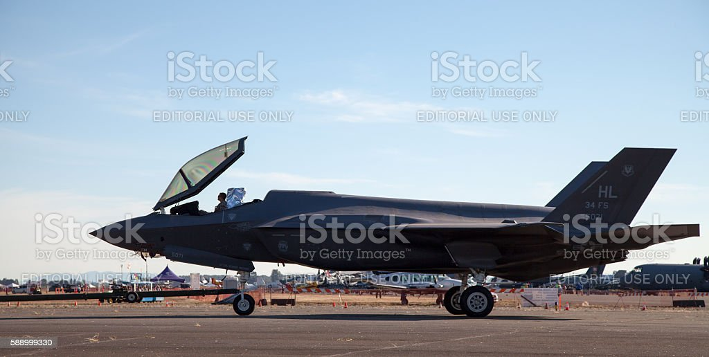 Lockheed Martin F-35 Joint Strike Fighter Taxiing stock photo