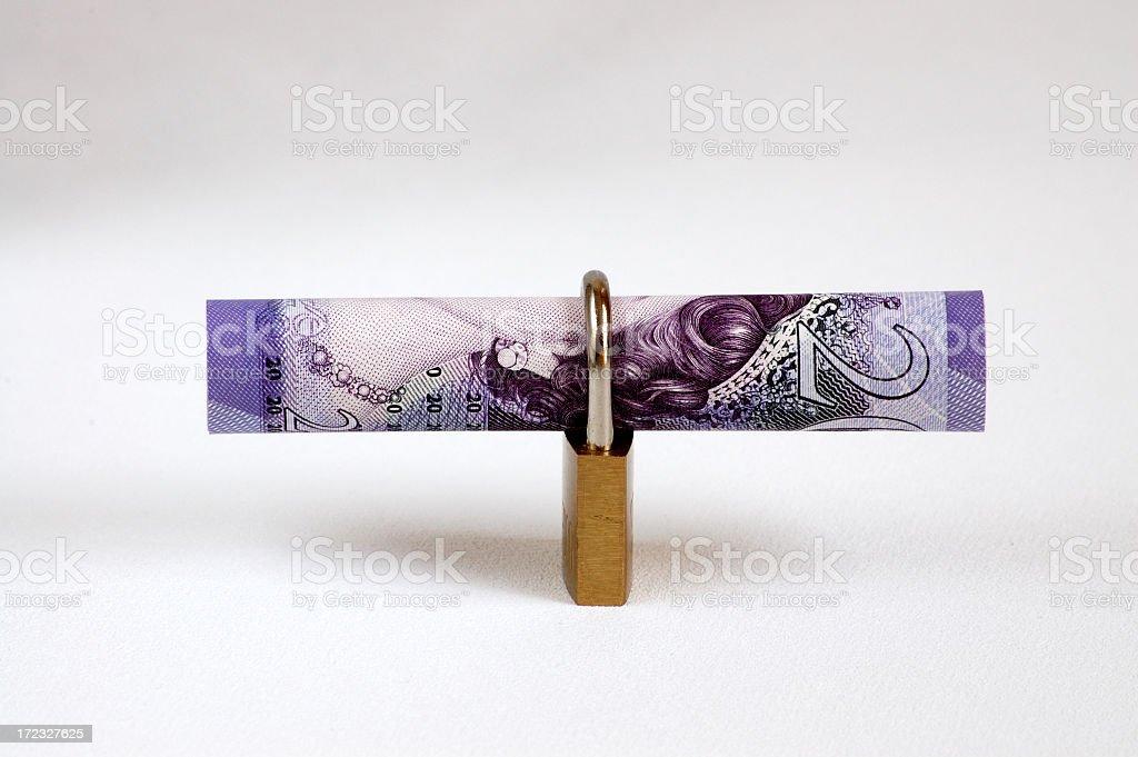 Locking Away Money stock photo
