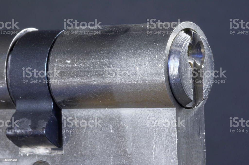 locking cylinder royalty-free stock photo