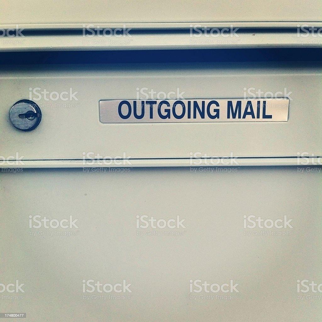 Locking mailboxes royalty-free stock photo