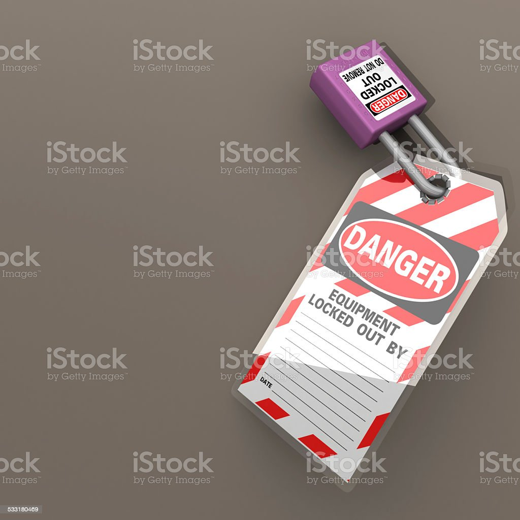 Lockout Tagout LOTO stock photo