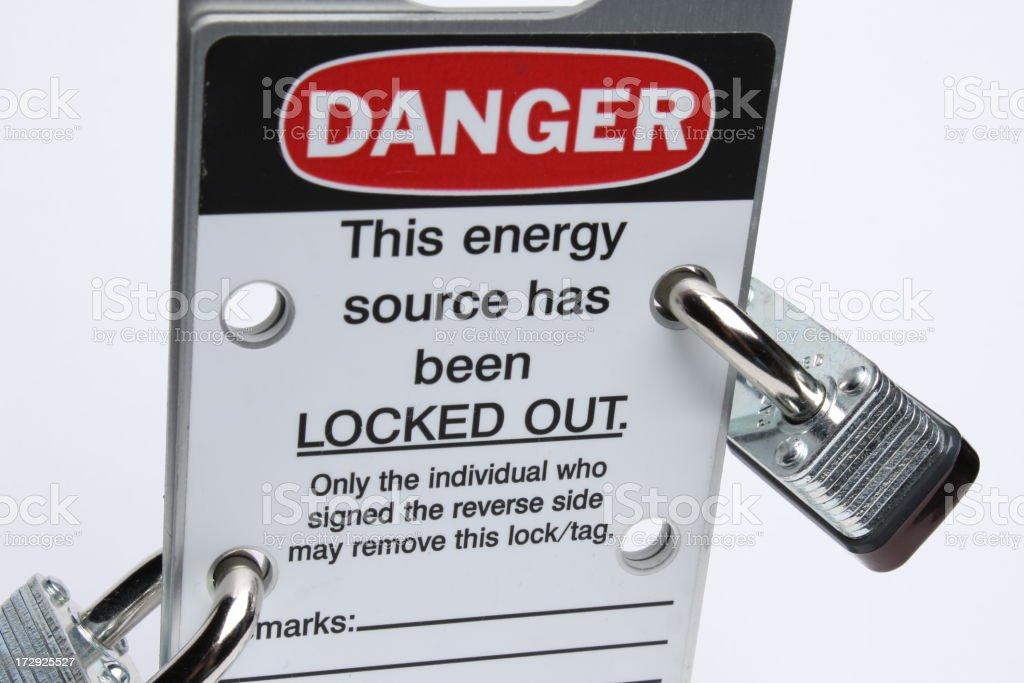 Lockout Tagout royalty-free stock photo