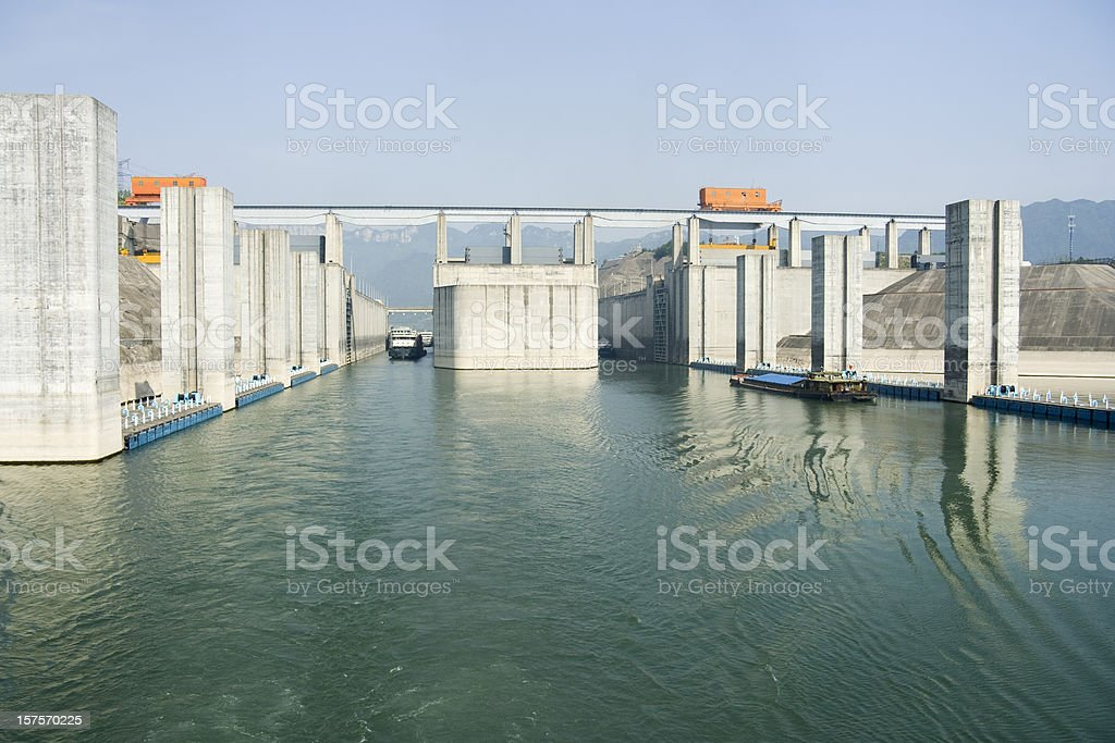 Locks At Three Gorges Dam stock photo