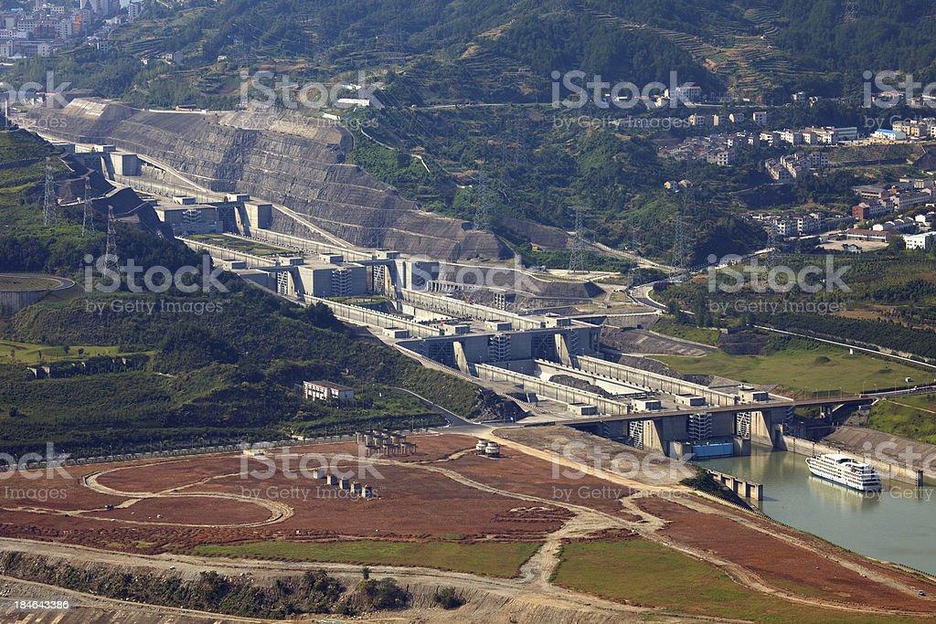 Locks of Three Gorges Dam stock photo
