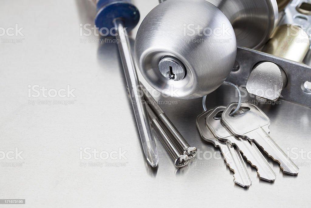 Locksmith Tools stock photo