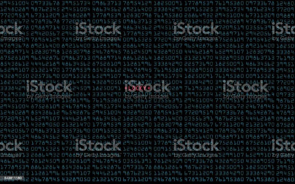 Locky Virus stock photo