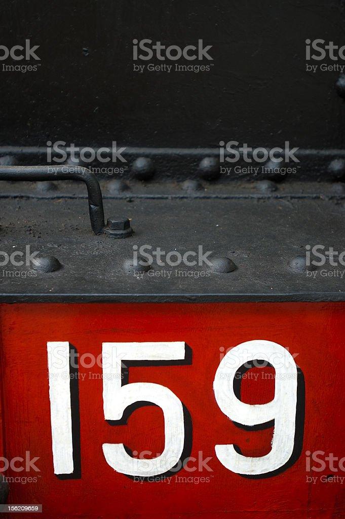 Locomotiva a vapore GR 691 stock photo