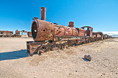 locomotive abandoned in the salar de Uyuni