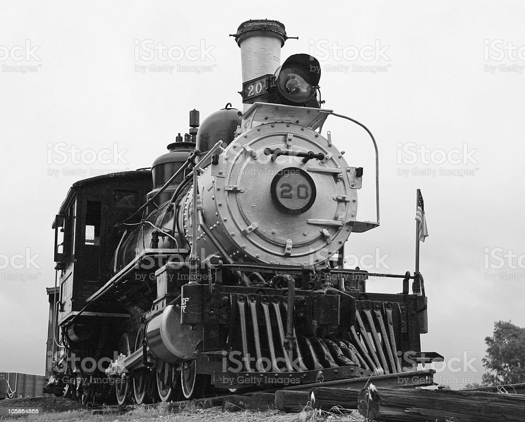 Locomotive B&W stock photo
