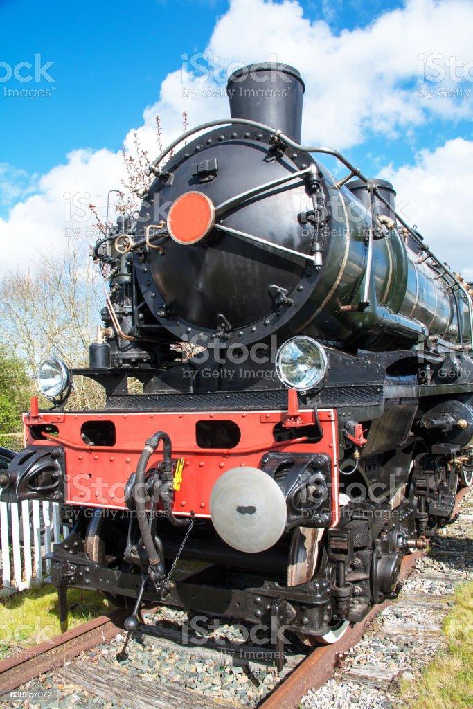 Locomotive à vapeur, souvenir ancien stock photo