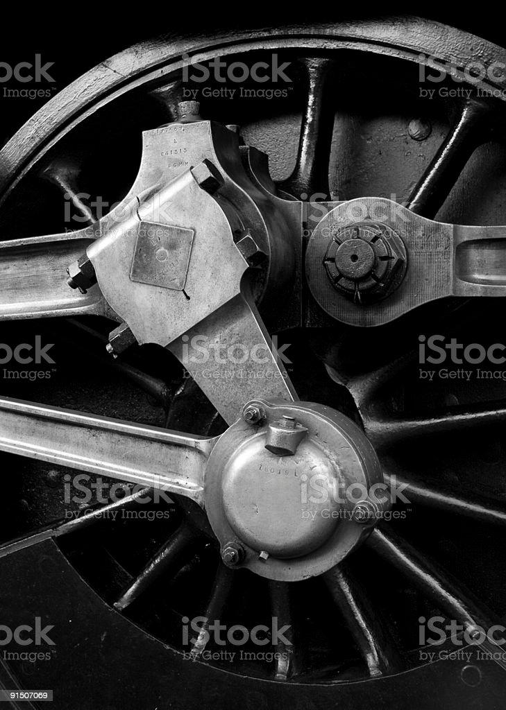 Locomotora de rueda foto de stock libre de derechos