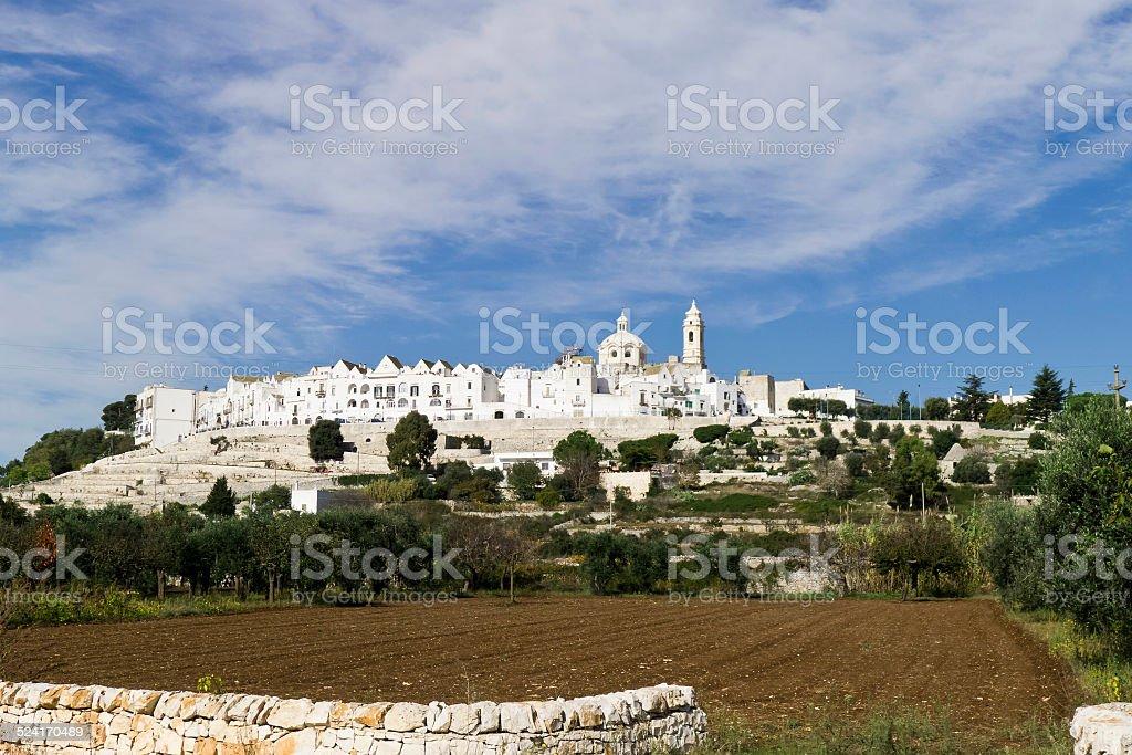 Locorotondo town of Puglia. stock photo