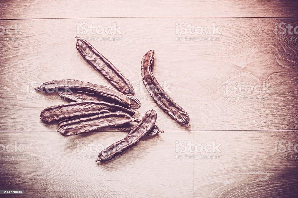 Locust Beans stock photo
