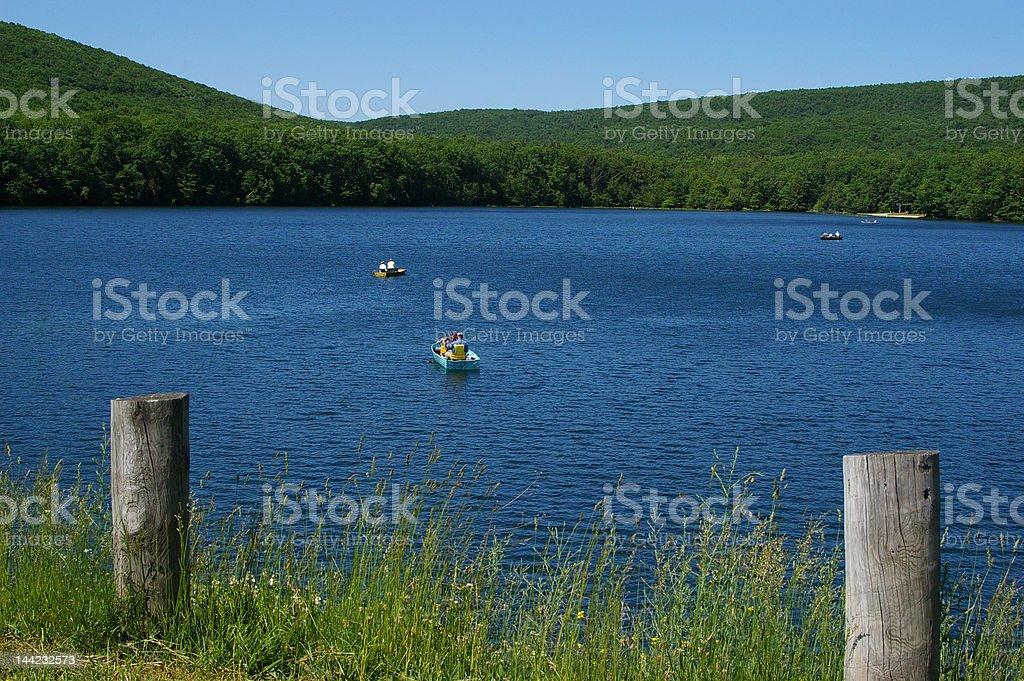 Locust Lake View stock photo