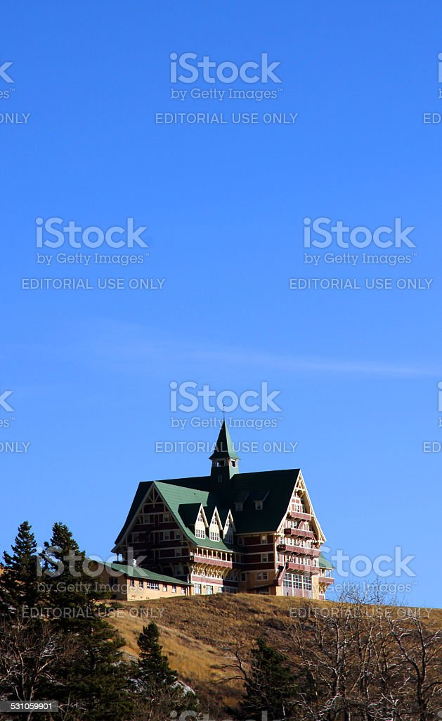 Lodge and Sky stock photo