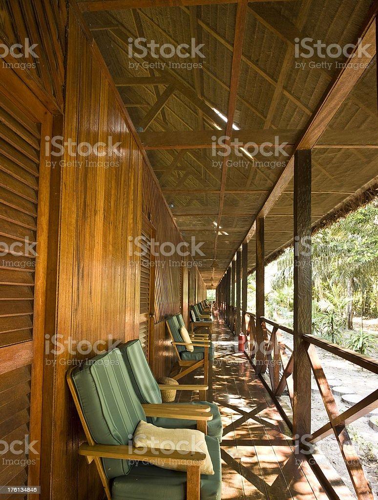 Lodge in Amazon stock photo