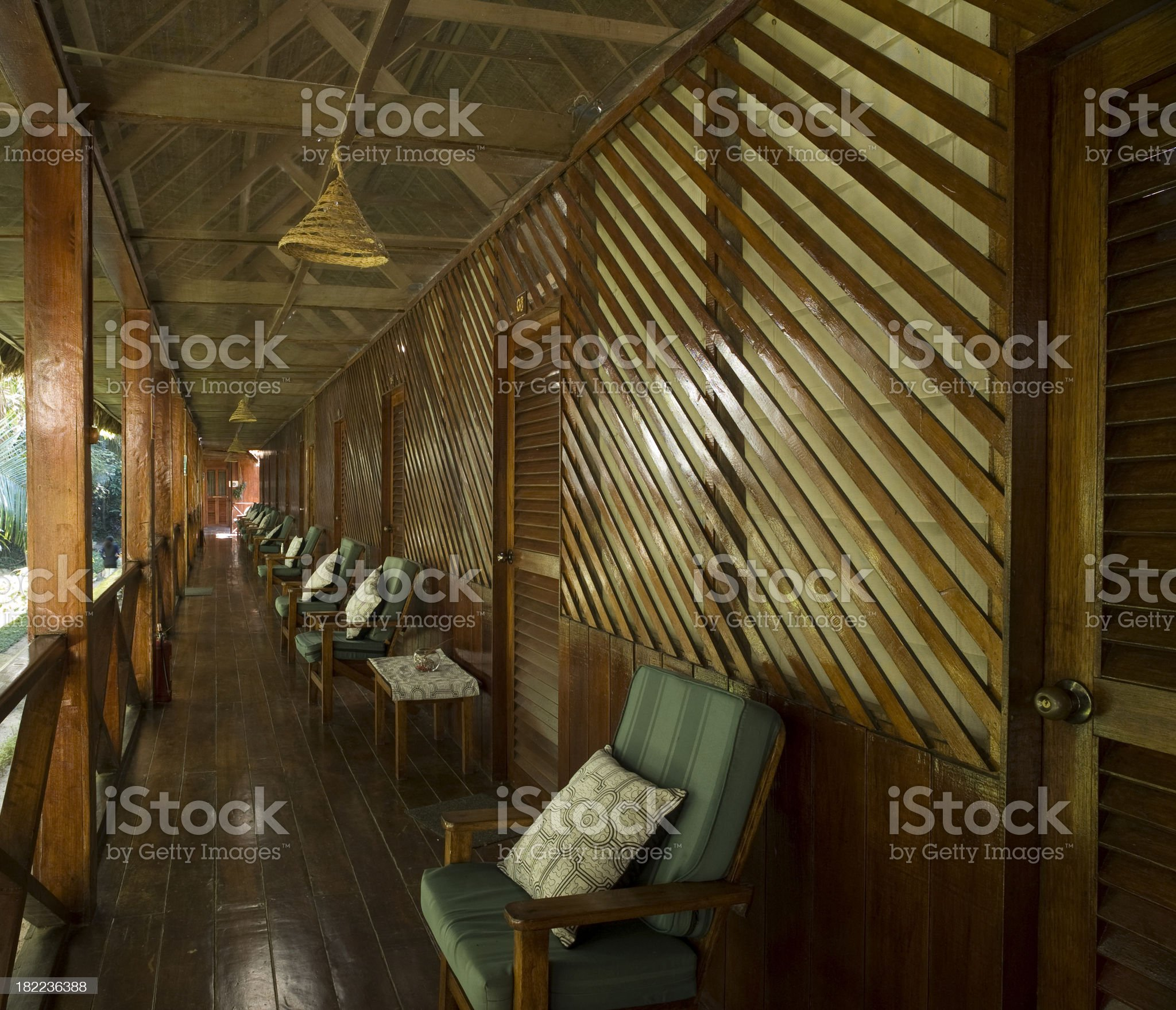 Lodge in Amazon royalty-free stock photo