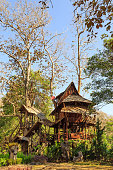 Lodging treehouse at Mae Chaem