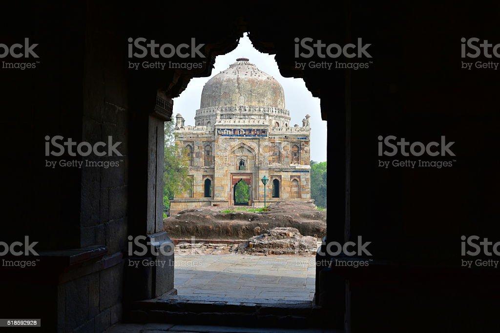 Lodhi Gardens Delhi, Shisha Gumbad stock photo