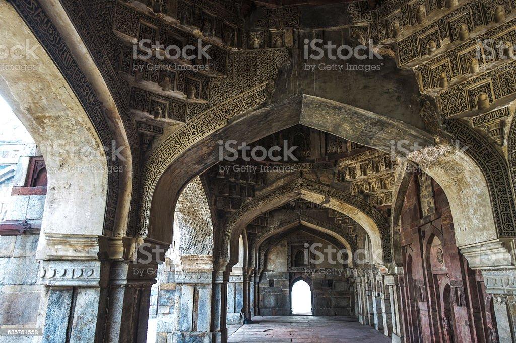 Lodhi Gardens New Delhi Inside View stock photo