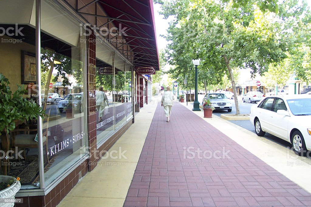 Lodi Sidewalk royalty-free stock photo