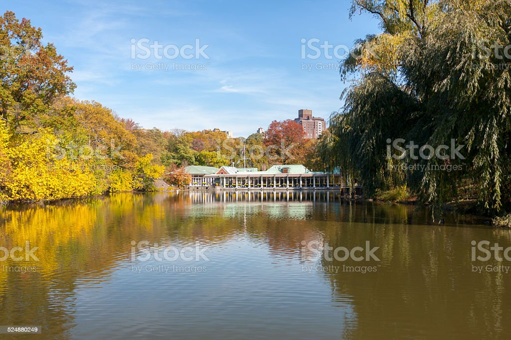 Loeb Boathouse and Lake (Central Park) stock photo