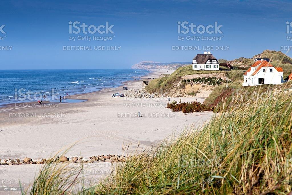 Loekken beach stock photo