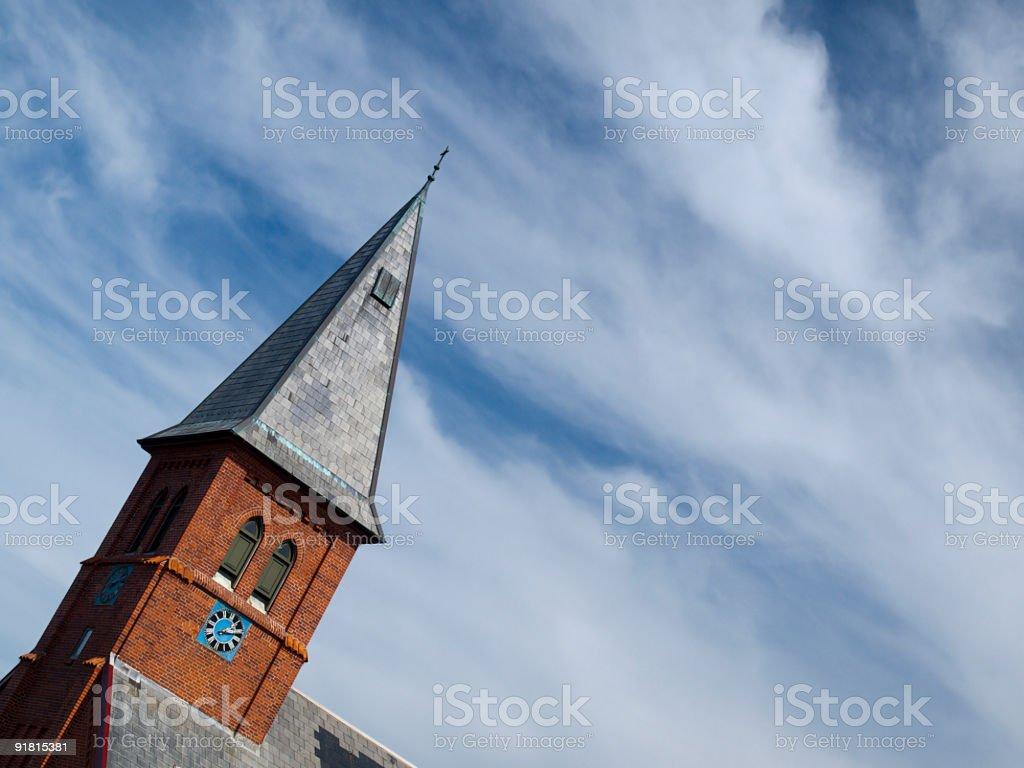 Loekken church stock photo