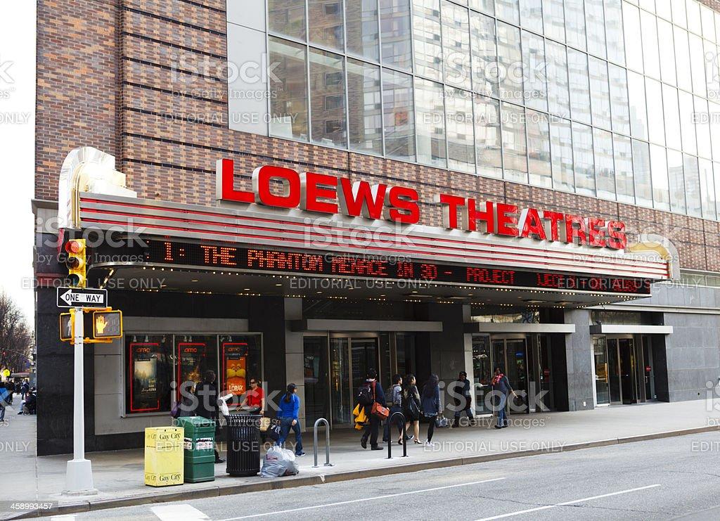 AMC Loews Lincoln Square Movie Theater Manhattan stock photo