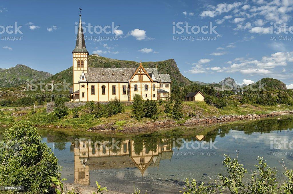 Lofoten cathedral stock photo