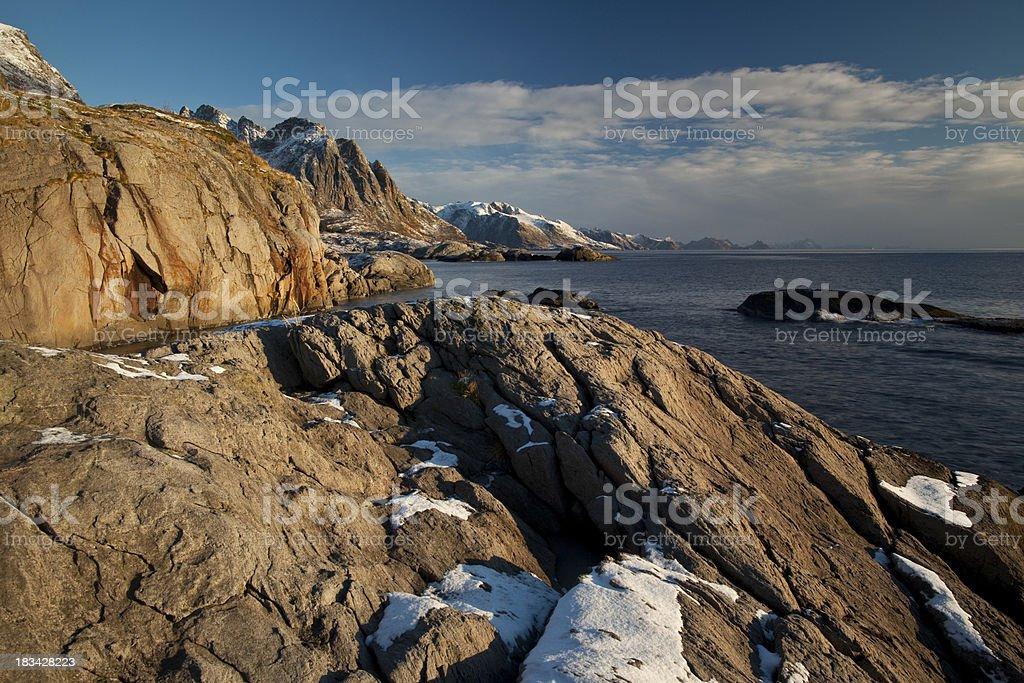 Lofoten Island seascape royalty-free stock photo