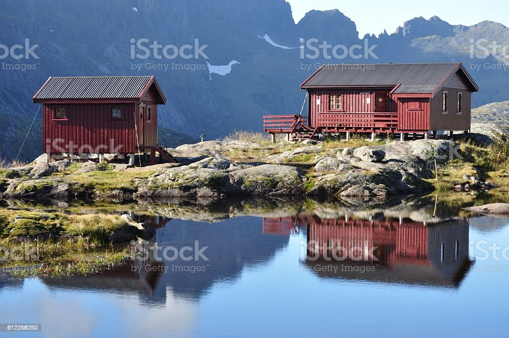 Lofoten islands, Norway, trek to Munkebu and Munkan mountain stock photo