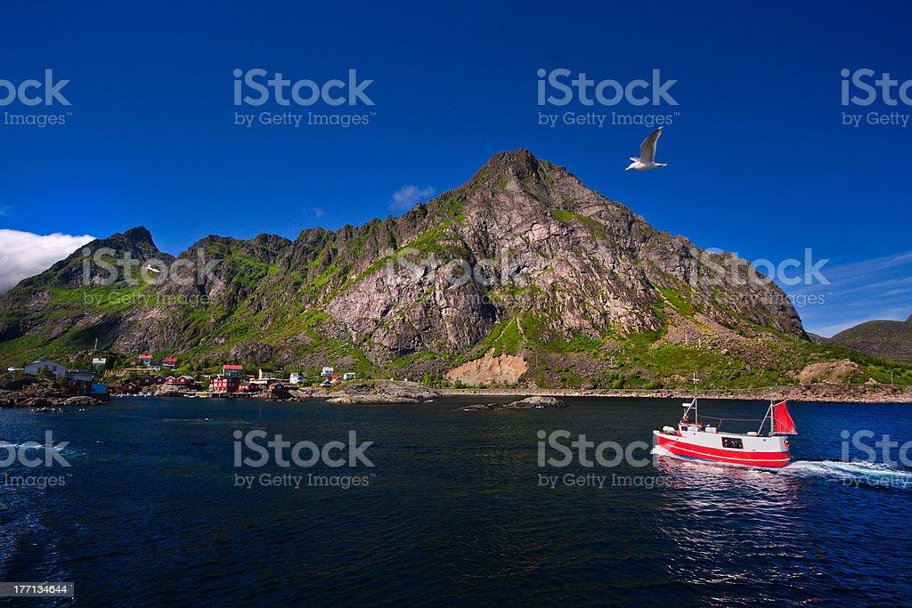 Lofoten (Norway), Å, Moskenes royalty-free stock photo