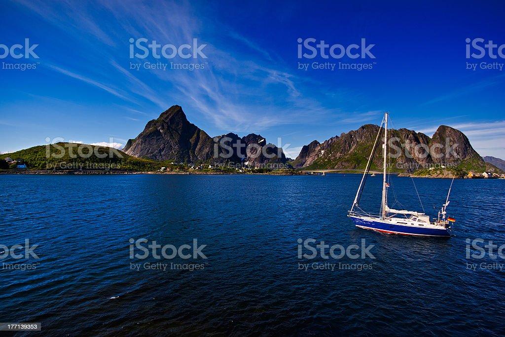Lofoten (Norway), Moskenes royalty-free stock photo