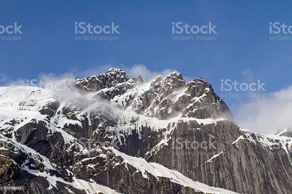 Lofoten mountains stock photo