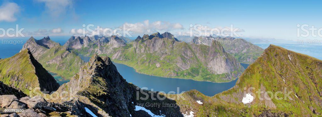 lofoten munkan stock photo