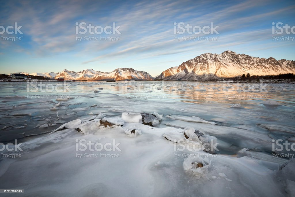 Lofoten, Norway in February 2017 around Hennigsver stock photo