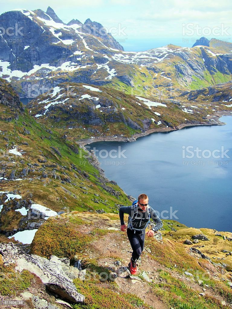Lofoten Norway stock photo