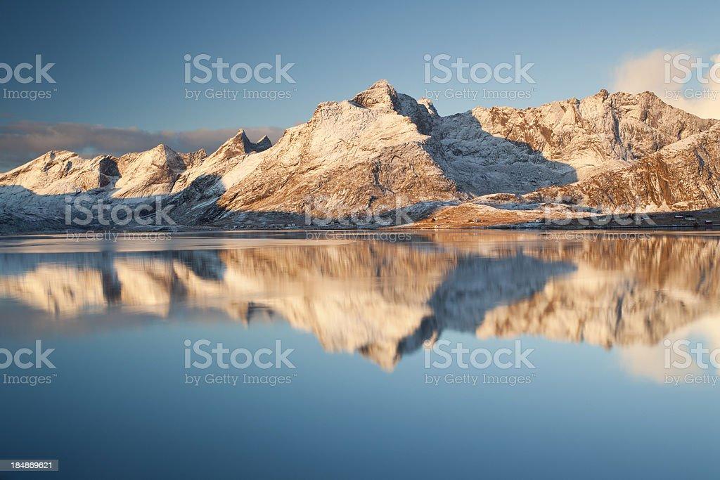 Lofoten Reflections stock photo