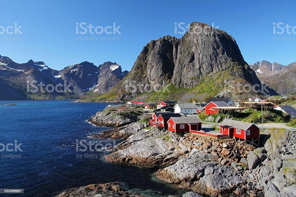 Lofoten (Norway), Reine stock photo