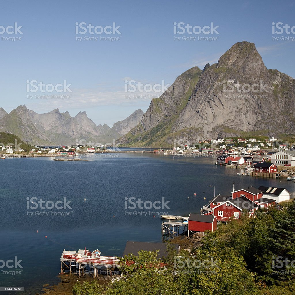 Lofoten village stock photo