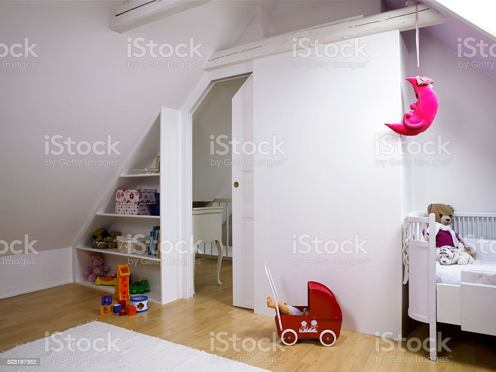 Loft and sliding door stock photo