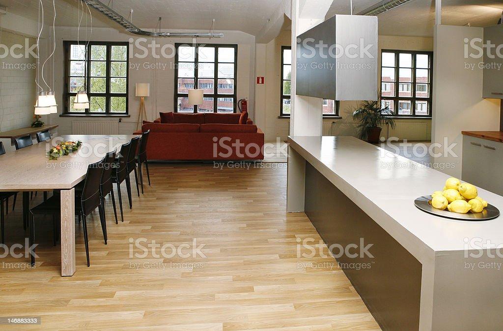 Loft apartment royalty-free stock photo