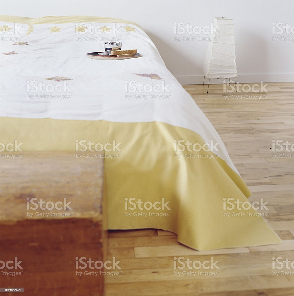 Loft bedroom royalty-free stock photo