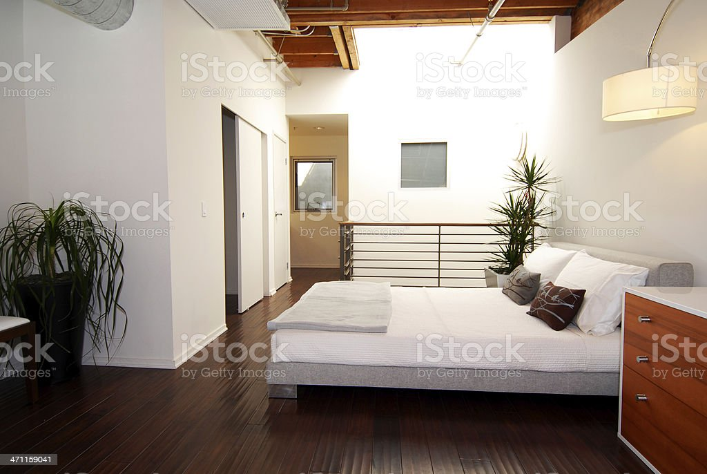 Loft Bedroom royalty-free stock photo