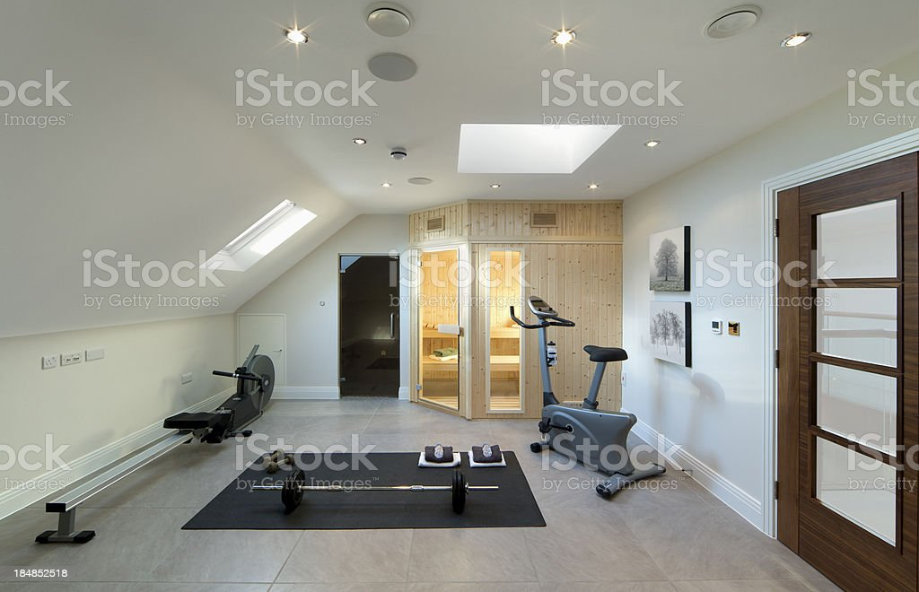 loft gym stock photo