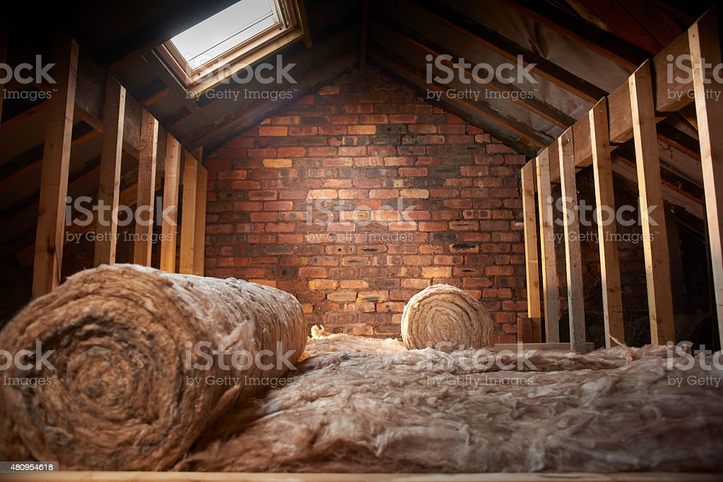 loft insulation stock photo