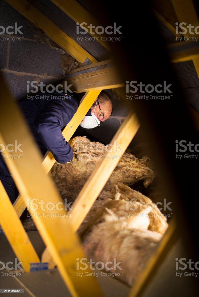 loft insulation stock photo