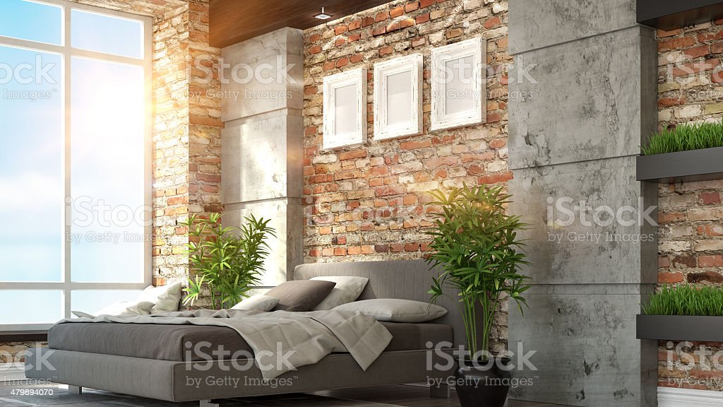 Intérieur loft photo libre de droits
