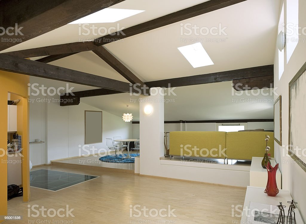 loft interior royalty-free stock photo